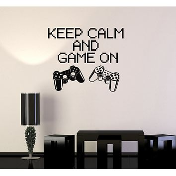 Vinyl Decal Quote Gaming Game Video Game Playroom Wall Stickers Unique Gift (ig2751)