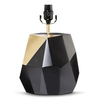 Nate Berkus™ Black and Gold Facet Lamp Base