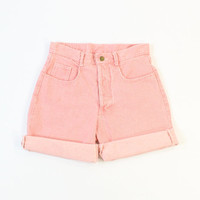 VINTAGE Pink Denim Shorts Medium