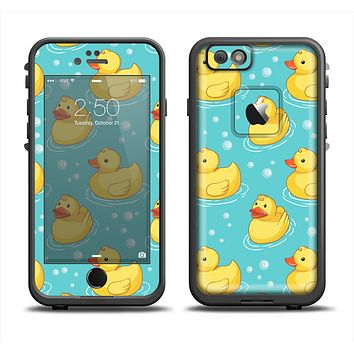 The Cute Rubber Duckees Apple iPhone 6 LifeProof Fre Case Skin Set