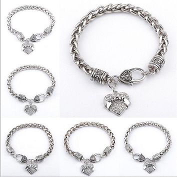 ca DCCKTM4 New Arrival Gift Stylish Great Deal Awesome Shiny Hot Sale Heart Rhinestone Pendant Gifts Bracelet [8026071751]