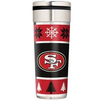 San Francisco 49ers Ugly Sweater Travel Tumbler