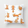 Fox in Winter Wonderland Print Decor Throw Pillow by Cabinet Of Pretty Things