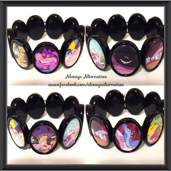 Alice in Wonderland Mad Hatter Tea Party Cheshire Cat Bracelet