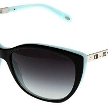 Tiffany & Co Sunglasses Women Black Blue Oval TF4094B 80553C