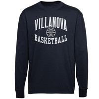 Villanova Wildcats Reversal Basketball Long Sleeve T-Shirt - Navy Blue