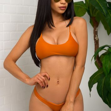 Key West Beach Two Piece Swimsuit - Rust