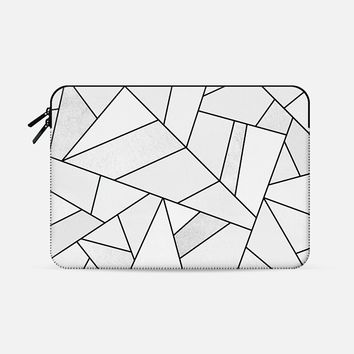 "White Stone / Black Lines Macbook Pro 15"" sleeve by Elisabeth Fredriksson 