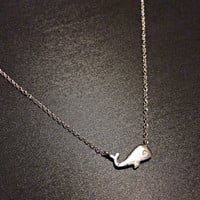 Sterling Silver Whale Necklace- Ocean Necklace delicate minimalist necklace