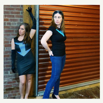 Nightwing Secret Identity Closet Cosplay Knit Dress