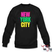 New York City colors sweatshirt