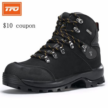 TFO Hiking shoes men man Hiking boots shoes Outdoor sport trekking Leather Waterproof hiking climbing hunting mountain tactical