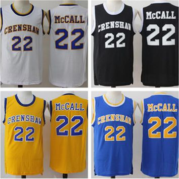 be6f2956ded6 STEENBERGE McCall 22 Movie Jersey CRENSHAW Basketball Jersey Sti