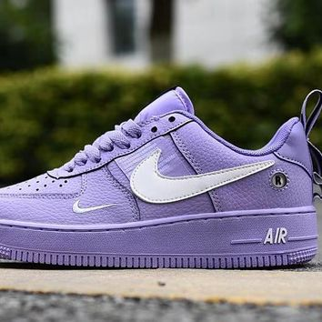Air Force 1 07 LV8 Utility Purple White Low - Best Deal Online