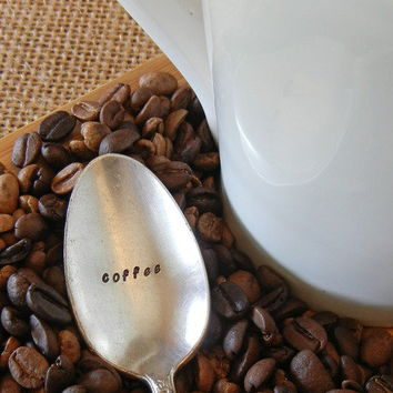 "Hand Stamped ""Coffee"" Spoon by Sweet Sublimity"