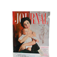 Vintage Magazine 1950s Ladies Home Journal - February 1954 - Elizabeth Taylor My Daughter, Prenatal Influence, Fashion, Beauty, Food, ect.