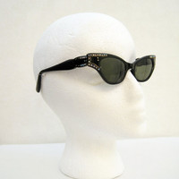 50s Sunglasses Vintage Catseye Made in France by voguevintage