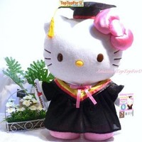 Sanrio Hello Kitty Graduation Gifts Plush Doll 14""