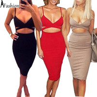 Sleeveless Sexy 2 Piece Set Bandage Body Dresses