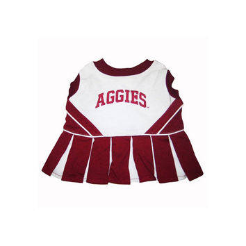 Pets First Texas A M Aggies Pet Dog Cheer Leading Sports Outfit Small