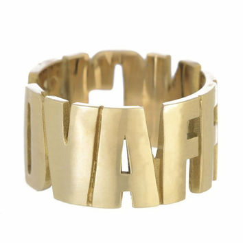 Vaffanculo Gold Ring