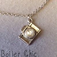 Camera Rhinestone Charm Necklace