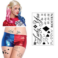 HQ Temporary Tattoos Sheet - Face, Waist, & Leg Tattoos - Halloween Costume / Cosplay