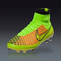 Nike Magista Obra FG - volt/metallic gold coin/black/hyper punch Firm Ground Soccer Shoes