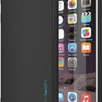 iPhone 6 / 6S Case, Ultra Slim Minimalist design by Slimtech - fits iPhone 6 (4.7) and 6S (AT&T, Verizon, Sprint, T-Mobile) Thin, Anti-Slip, Drop Resistant Protective case with scratch resistant screen protector - Eco Friendly [Lifetime Warranty] [BLACK]
