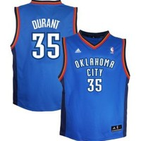 adidas Youth Oklahoma City Thunder Kevin Durant #35 Blue Revolution 30 Replica Basketball Jersey - Dick's Sporting Goods