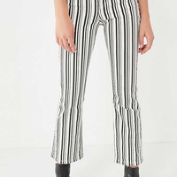 BDG Kick Flare High-Rise Cropped Jean – Stripe   Urban Outfitters