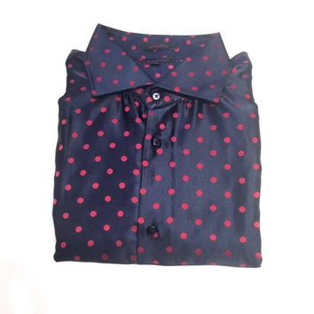 Leonardi 'navy red polka dots' Button Up Shirt