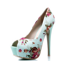 Christmas Gift y 15 cm Ultra High Heels Open toe Pumps Shoes Vintage Floral Platform Womens Shoes Alternative Measures