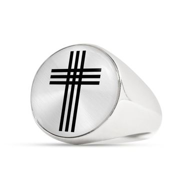 Stylized Cross - Luxury Signet Ring