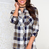 Brianne Plaid Top