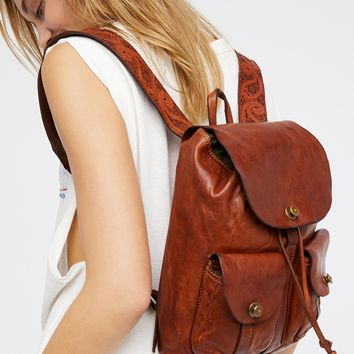 Free People Forli Leather Backpack