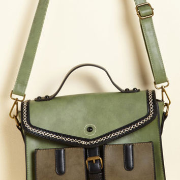 Business as Movable Bag in Matcha | Mod Retro Vintage Bags | ModCloth.com