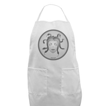 Medusa Head Coin - Greek Mythology Adult Apron by TooLoud