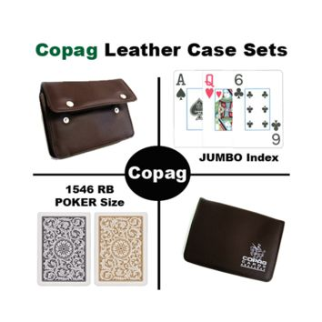 1546 Bl. Gld. Poker Regular Leather Case