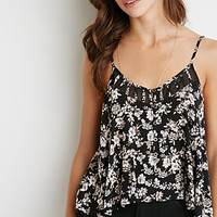 Floral Print Buttoned Cami