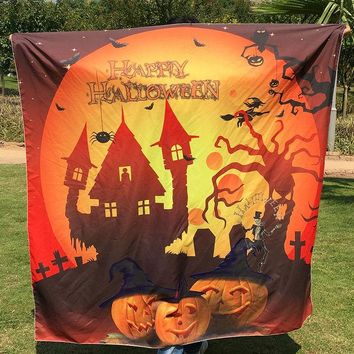 VONESC6 1pc Halloween Tapestry Beach Towel Hippie Wall Hanging Bed Sheet Dorm Sofa Cover Curtain Table Cloth Home Party Decor