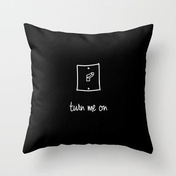 Turn Me On II Throw Pillow by Ines Leonardo