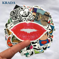 KRADA 50pcs Car Sticker car styling JDM Unique decal DIY sticker for Graffiti Skateboard Laptop Luggage Motorcycle Accessories