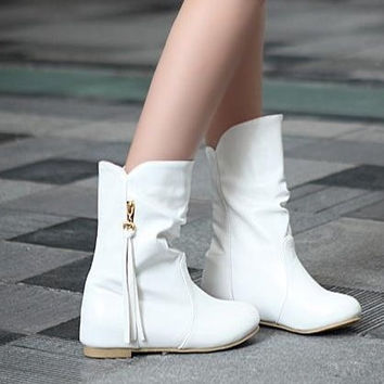 short boots high heel shoes ankle winter fashion sexy warm long women snow boot pumps on sale EUR size 34-39 = 1946701124
