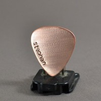 Personalized copper guitar pick with name