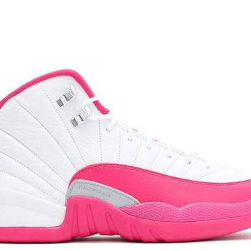 "Air Jordan 12 Retro GG ""White Vivid Pink"" GS"
