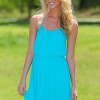 Feelin' The Breeze Dress-Aqua