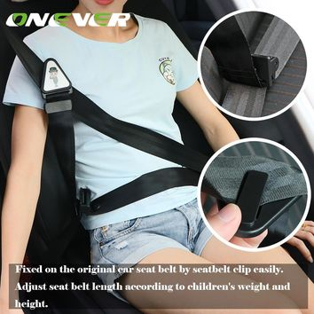Onever Automobile Child Car Seat Belt Oxford Fabric Baby Safety Belt Fixing Neck Protecting Belt Seatbelt Clip Fastening Belt