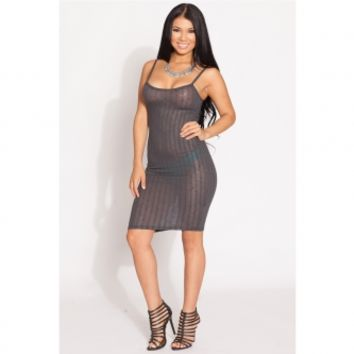 Dark Grey Knit Body Con Dress @ Cicihot sexy dresses,sexy dress,prom dress,summer dress,spring dress,prom gowns,teens dresses,sexy party wear,ball dresses