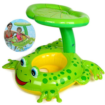 Seat Float Frog Swimming Pool Accessories Plastic Kids Children Pool Inflatable Swimming Circle